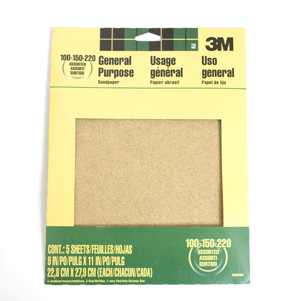 3m All Purpose Assorted Sandpaper