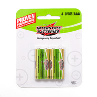 AAA, Interstate Battery, 4 Pack