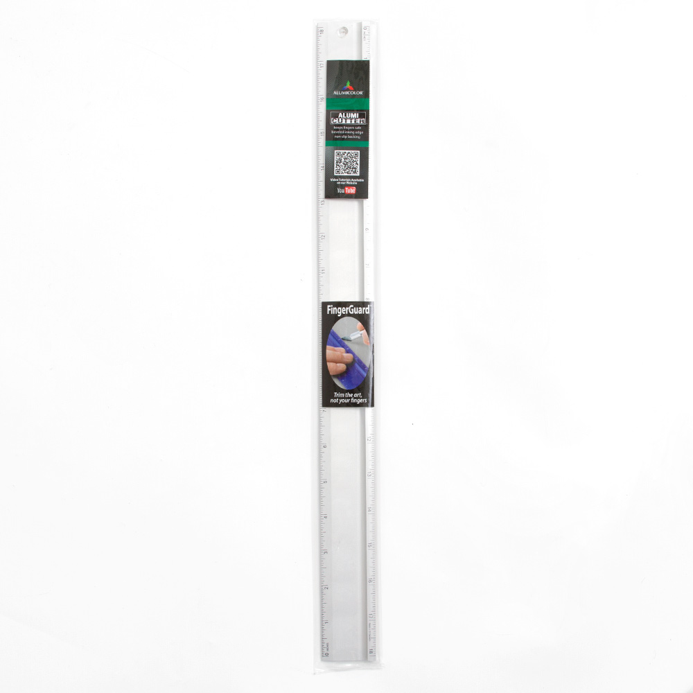 "Alumicolor, Alumicutter, Cutting Edge, Ruler, 18"", Silver"