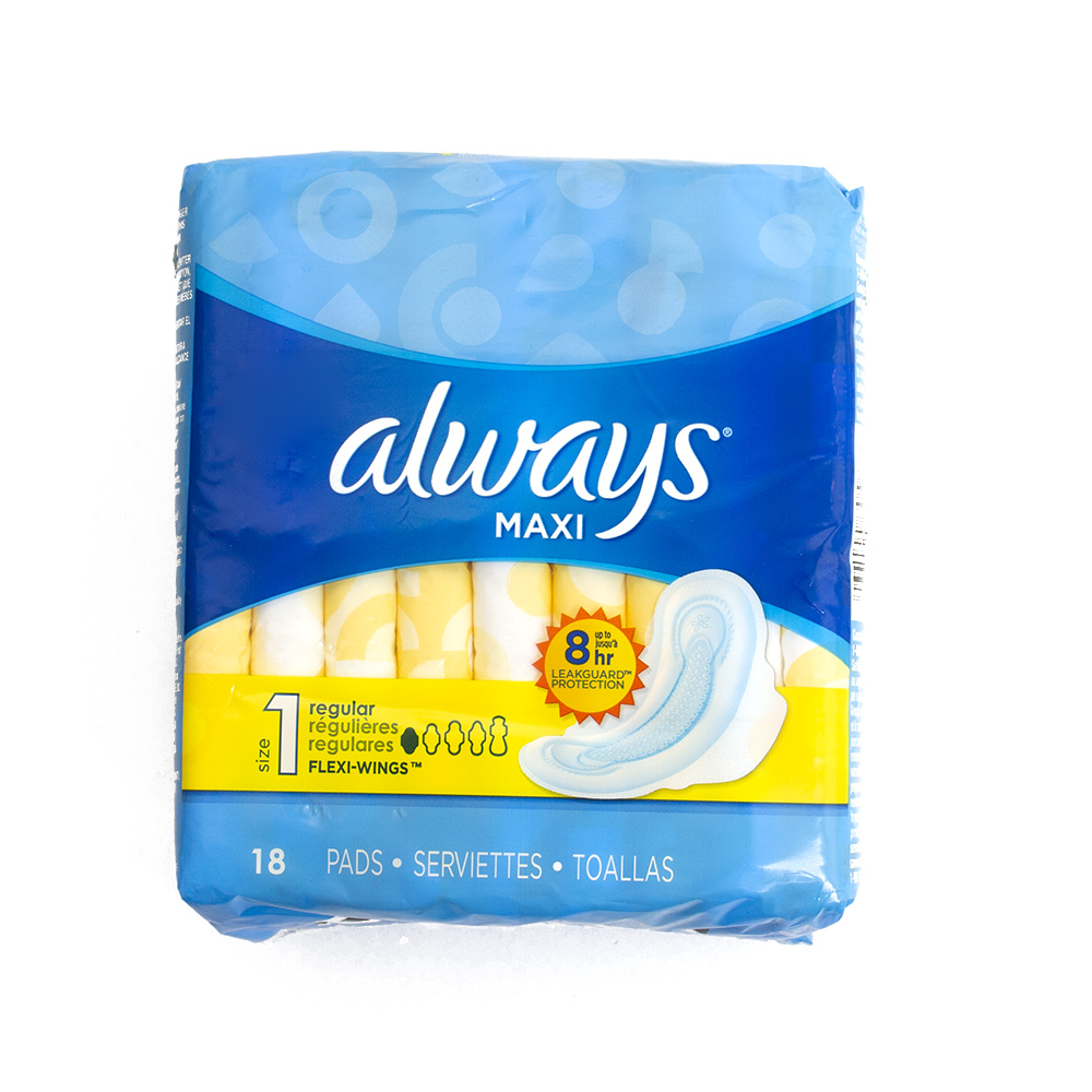 Always, Maxi Pads, 18 count