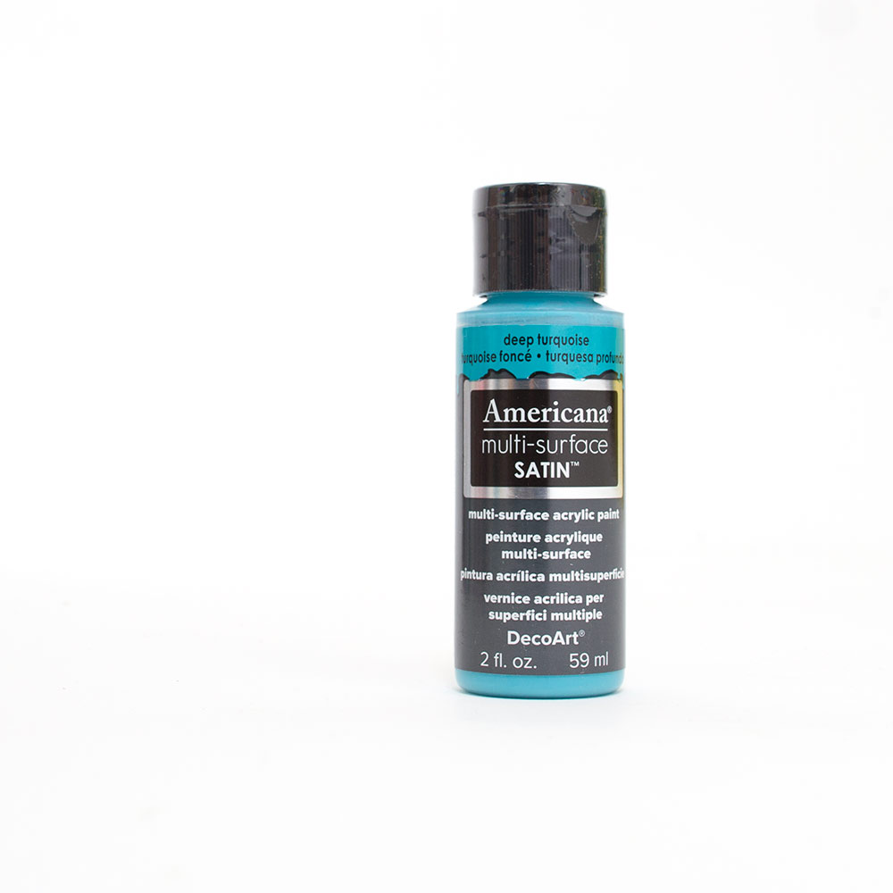 Americana, Multi-Surface, Acrylic Paint, 2oz, Deep Turquoise