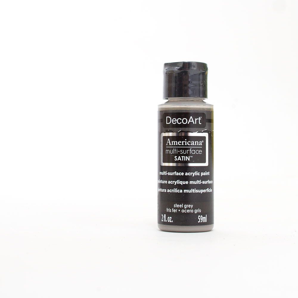 Americana, Multi-Surface, Acrylic Paint, 2oz, Steel Grey
