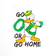 Angry Duck Go O or Go Home Decal