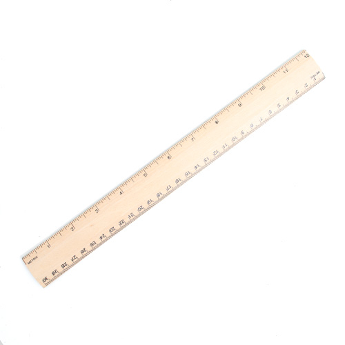 Art Alternatives 12 Wooden Ruler with Aluminum Edge