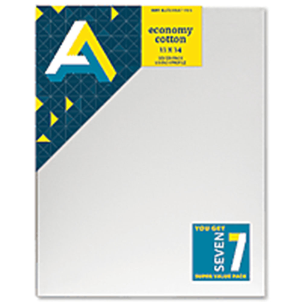 Art Alternatives, Economy Canvas, Super Value, 7 Pack