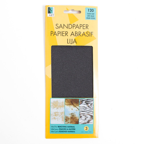 Art Alternatives Sandpaper Sheets Coarse 120 Grit 3pk