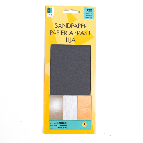 Art Alternatives Sandpaper Sheets Fine 320 Grit 3pk
