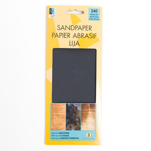 Art Alternatives Sandpaper Sheets Medium 240 Grit 3pk