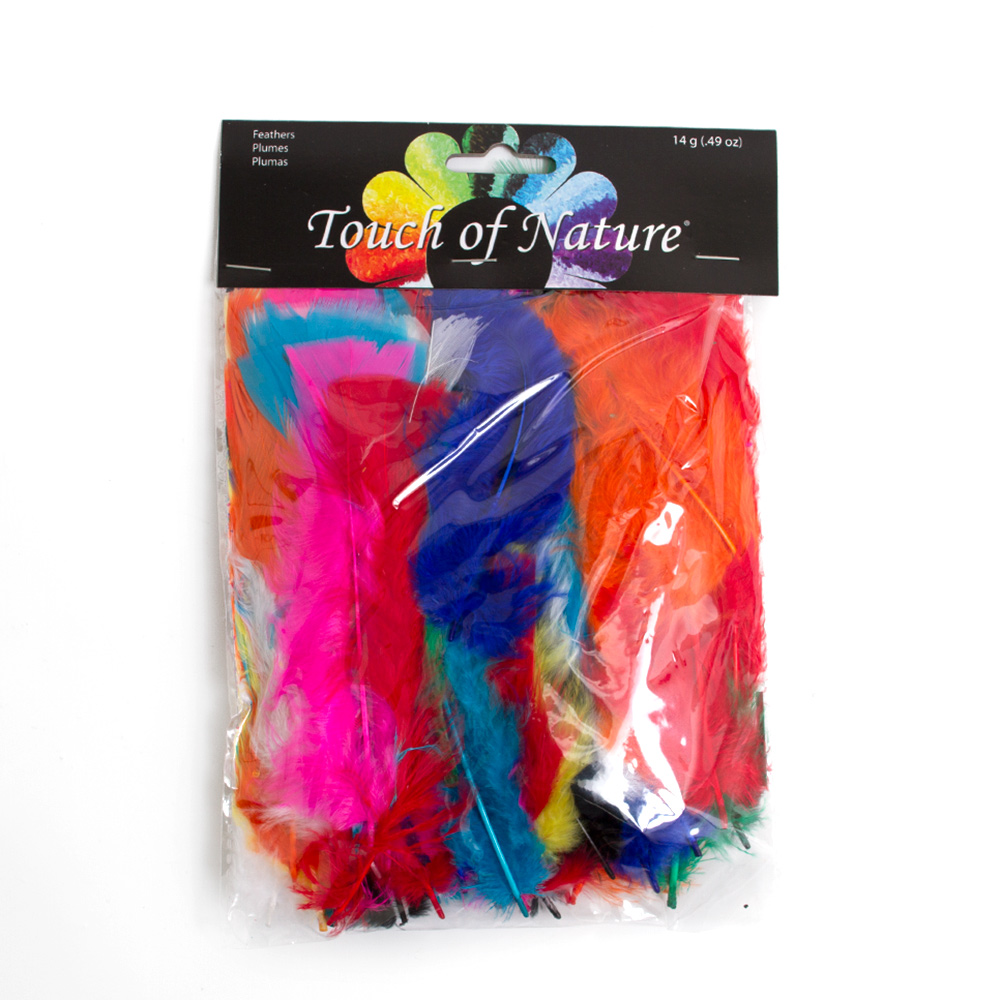 Assorted Colors Flat Feathers