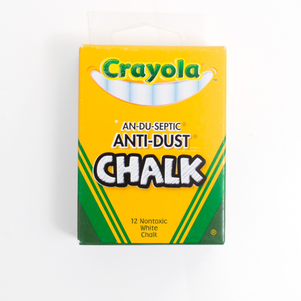 Auduseptic Low Dust Crayola Chalk 12 Sticks