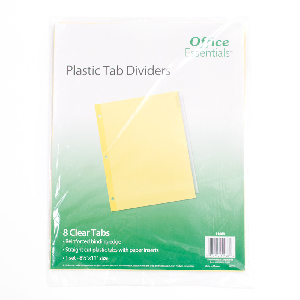Avery, 8 tab, Dividers