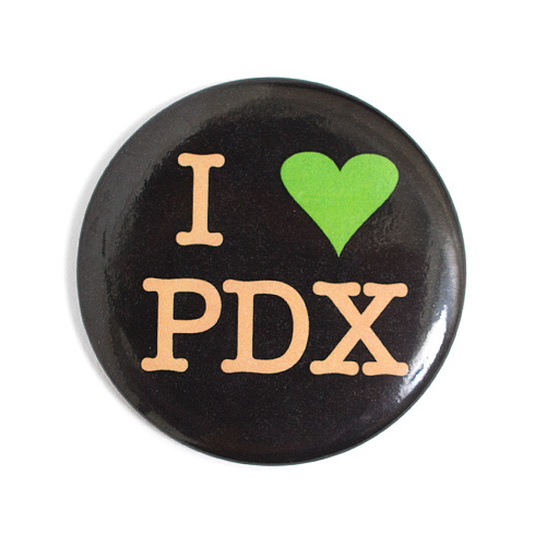 Badge Bomb Magnet I Heart PDX