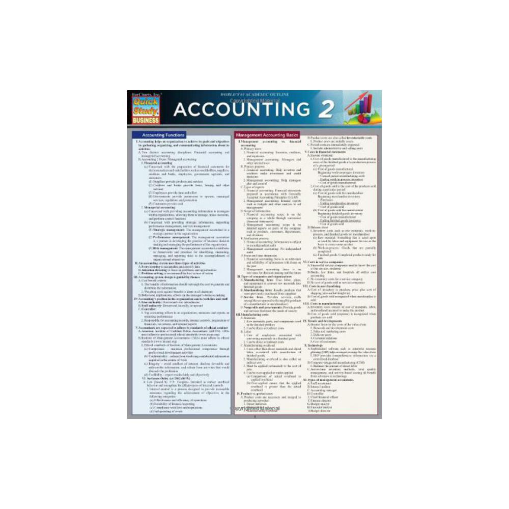 Barchart, Study Guide, Accounting