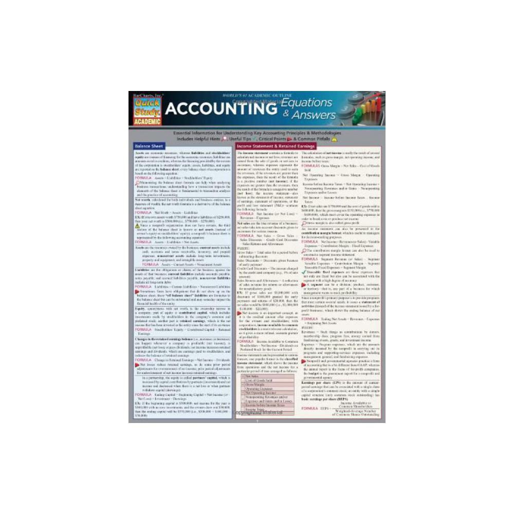 Barchart, Study Guide, Accounting, Equations and Answers