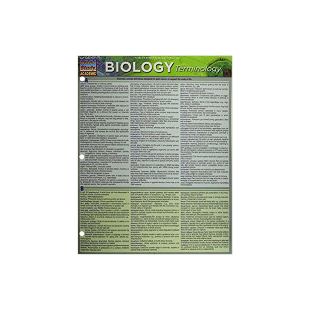 Barchart, Study Guide, Biology Terminology