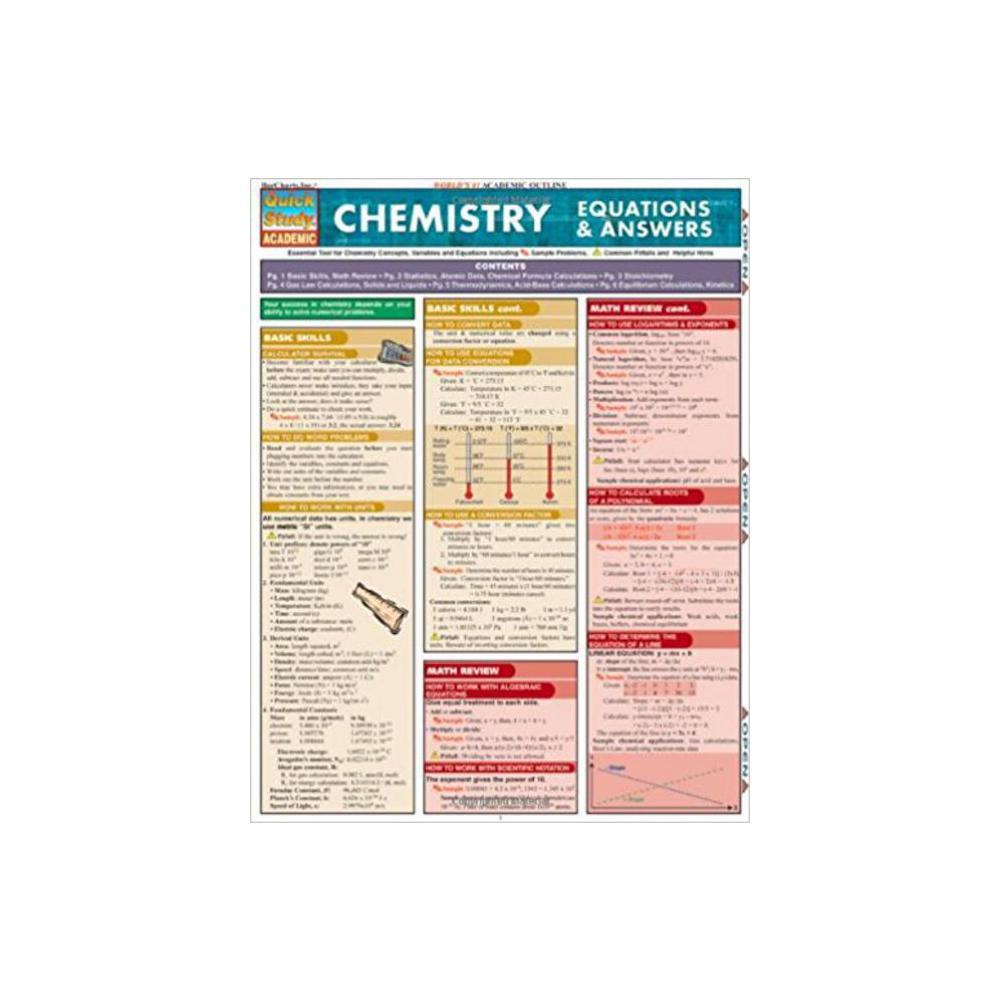Barchart, Study Guide, Chemistry Equations and Answers