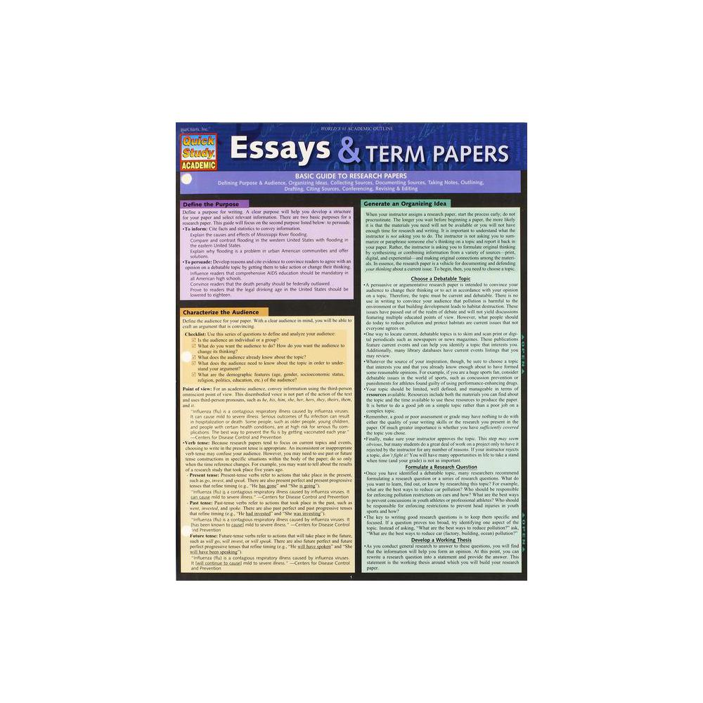 Barchart, Study Guide, Essay and Term Papers