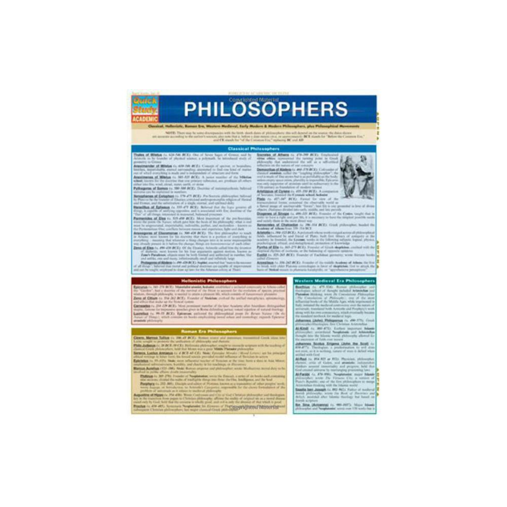 Barchart, Study Guide, Philosophers