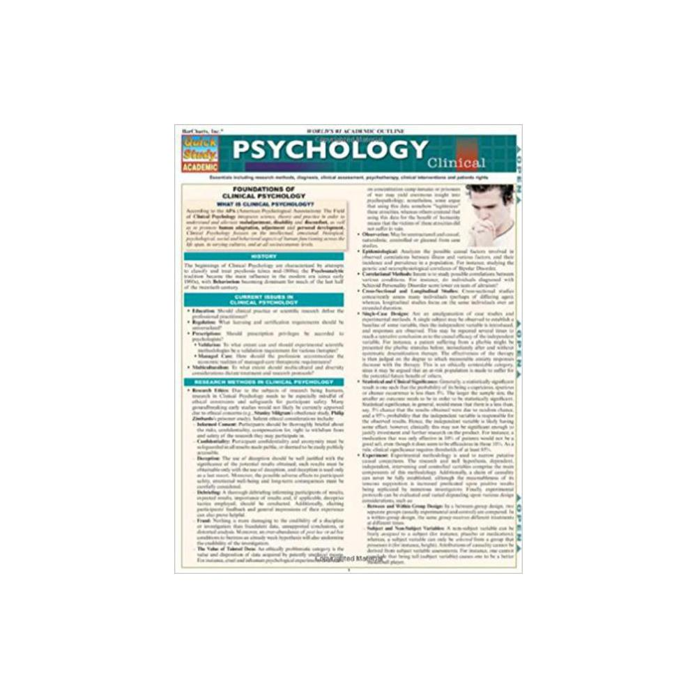 Barchart, Study Guide, Psychology Clinical