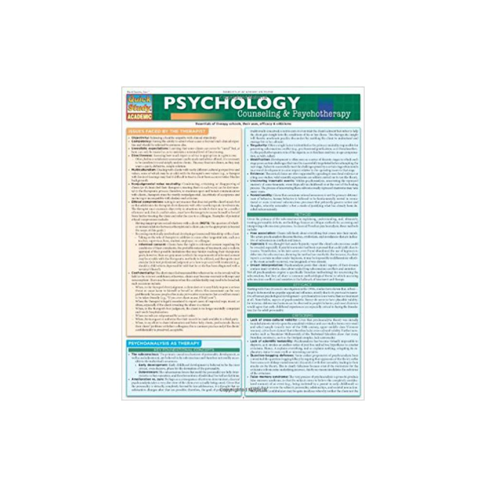 Barchart, Study Guide, Psychology, Counseling and Psychotherapy