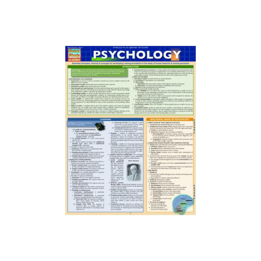 Barchart, Study Guide, Psychology