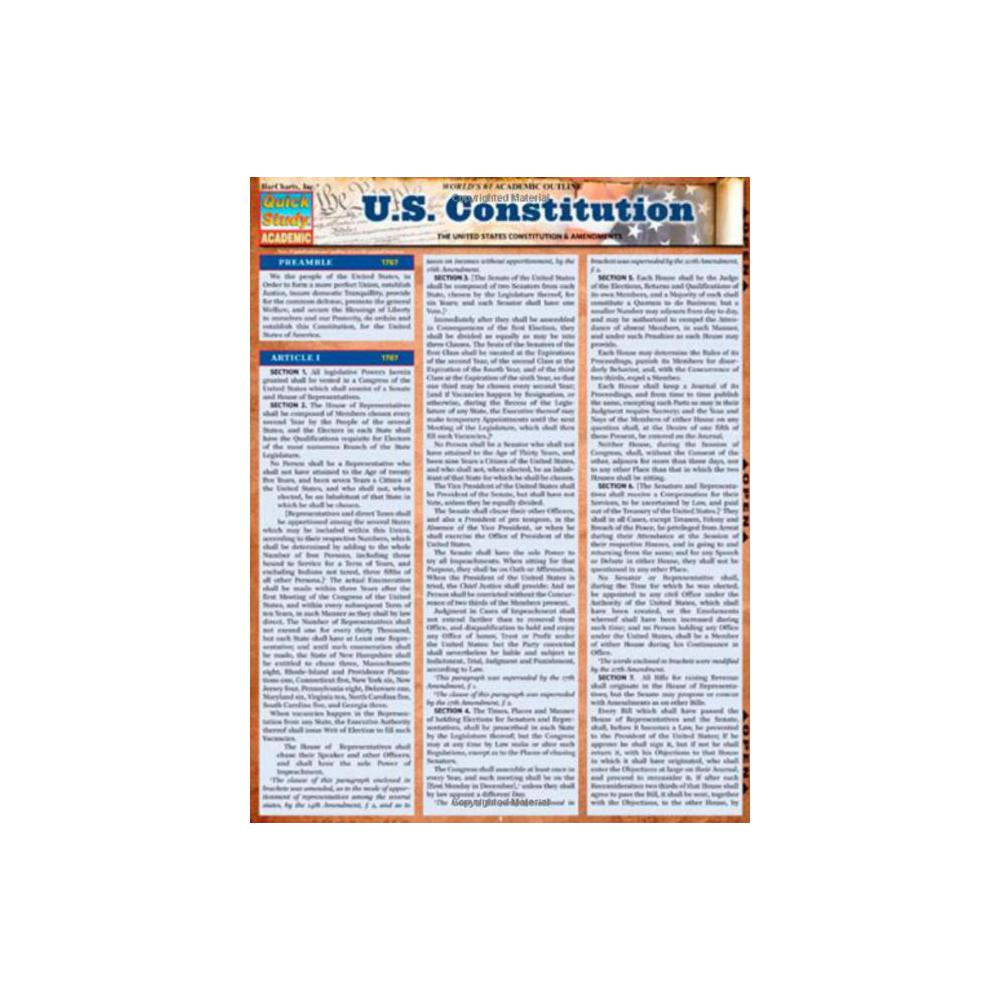 Barchart, Study Guide, U.S. Constitution