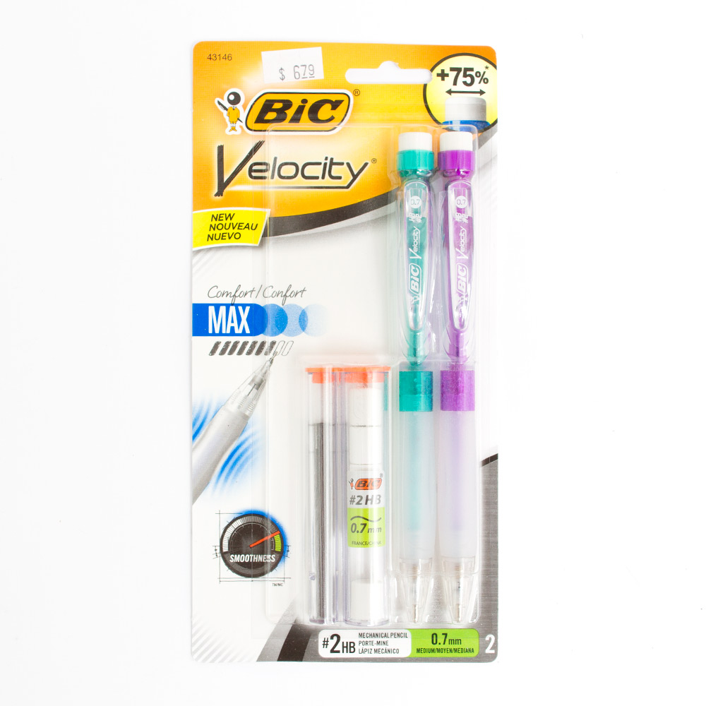 Bic Velocity Max Pencil .7mm 2pack