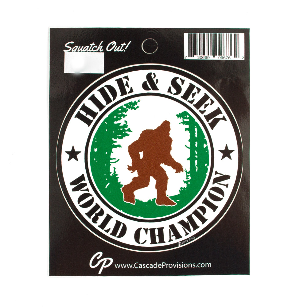 Bigfoot Hide & Seek World Champion Decal