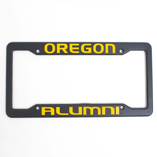 Black & Yellow Oregon Alumni License Frame