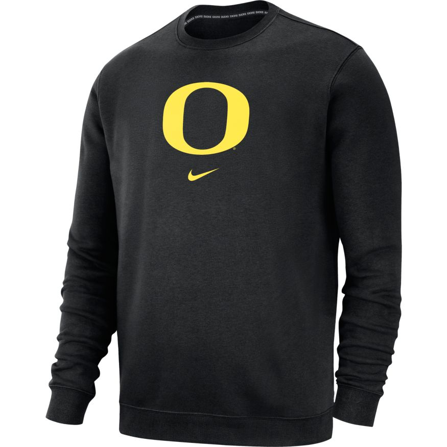 Classic Oregon O, Nike, Long Sleeve, Crew Neck, Pullover