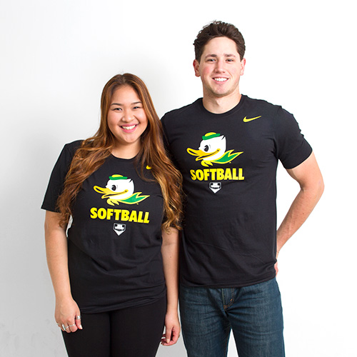 Black Nike Duck Face Softball Tee