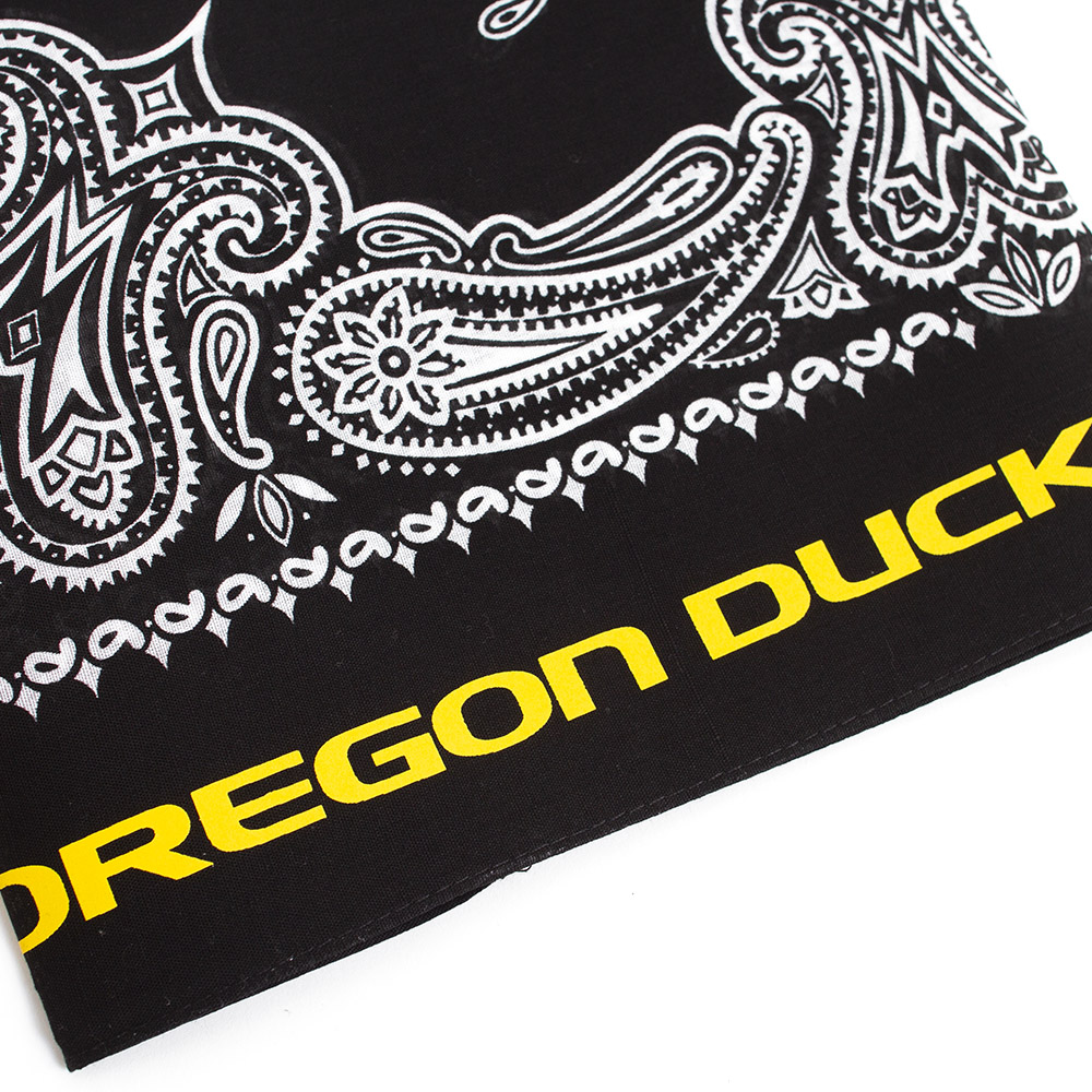 Black, Oregon Ducks, Classic, Paisley, Bandana