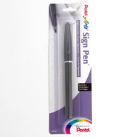 Pentel, Sign Pen, Fiber Tip, Carded