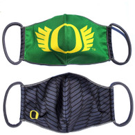 Classic Oregon O, O Wings, McKenzie Sew On, Face Mask, Ear Loop