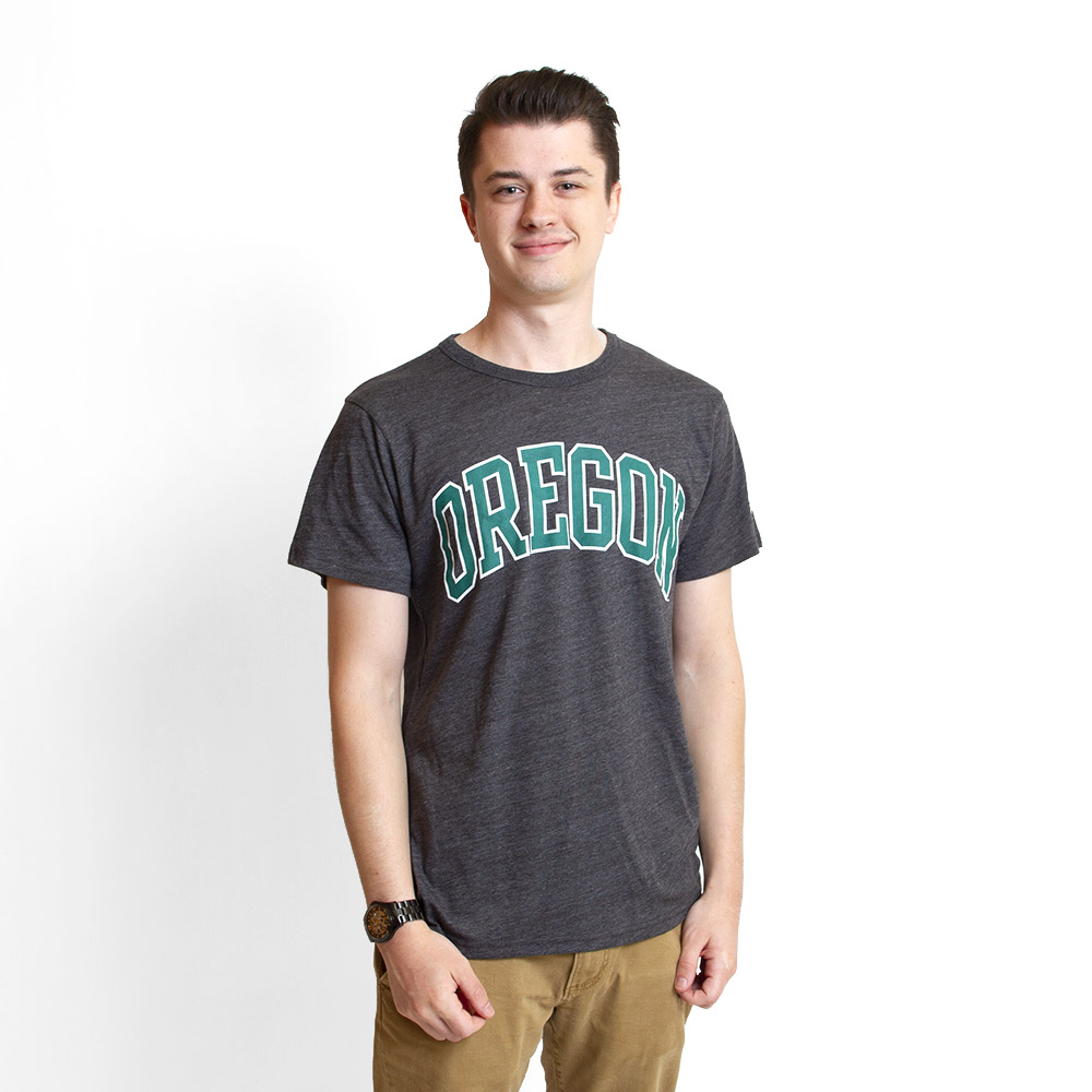 Arched Oregon, Tri-Blend, T-Shirt