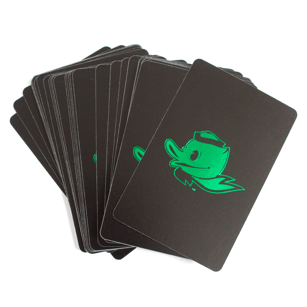 Black and Kelly Fighting Duck Playing Cards