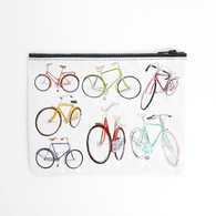 Blue Q Zipper Pouch Bicycles 7.25 x9.5