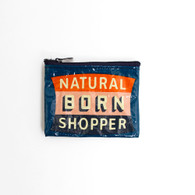 "BlueQ, Coin Purse, 3""x4"", Natural Born Shopper"