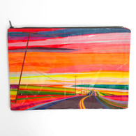 "BlueQ, Jumbo Pouch, 9""x12"", Sunset Highway"