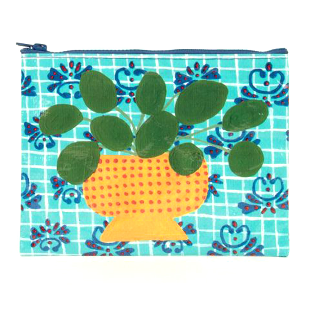 "BlueQ, Zipper, Pouch, 7.25""x9.5"""