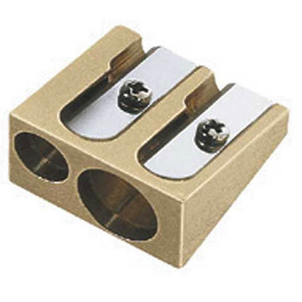 Brass, double hole, sharpener