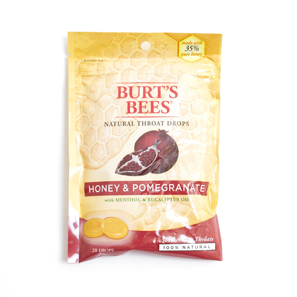 Burt's Bees, Throat Drop, Honey Pomegranate