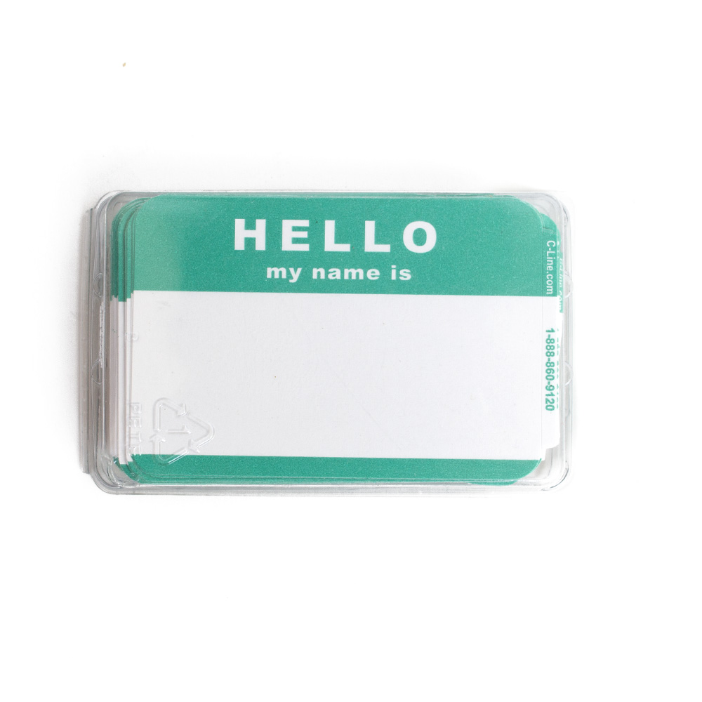 Hello, Name badge