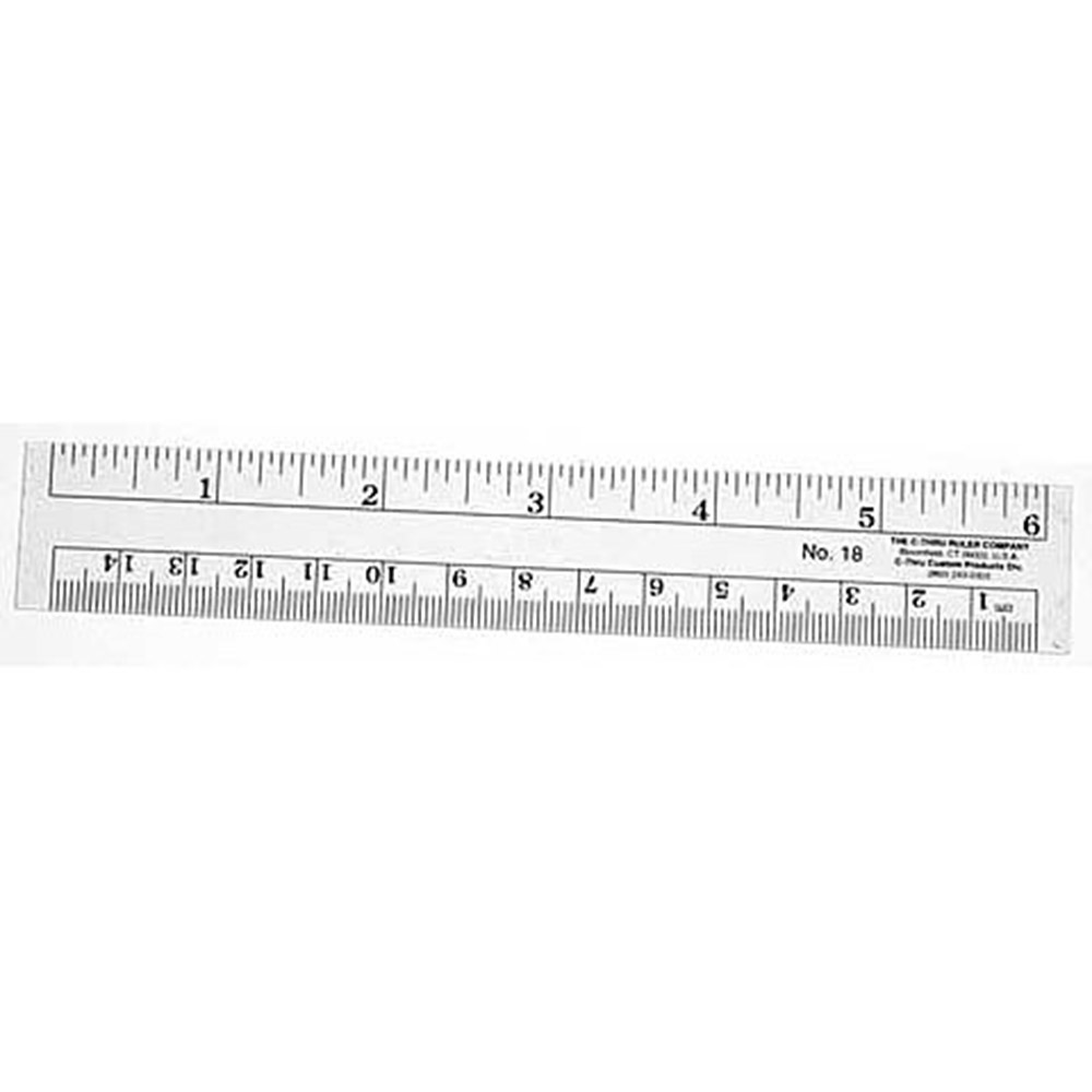 C-thru, Flexible, Inch & Metric, Ruler