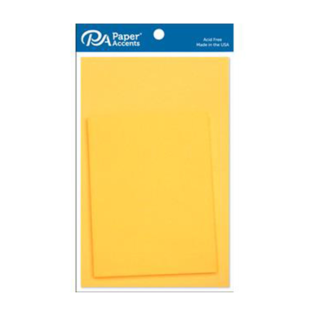 "Canary Yellow, Paper Accents, Card, Envelope, 4.25""x5.5"", 10 Pieces"
