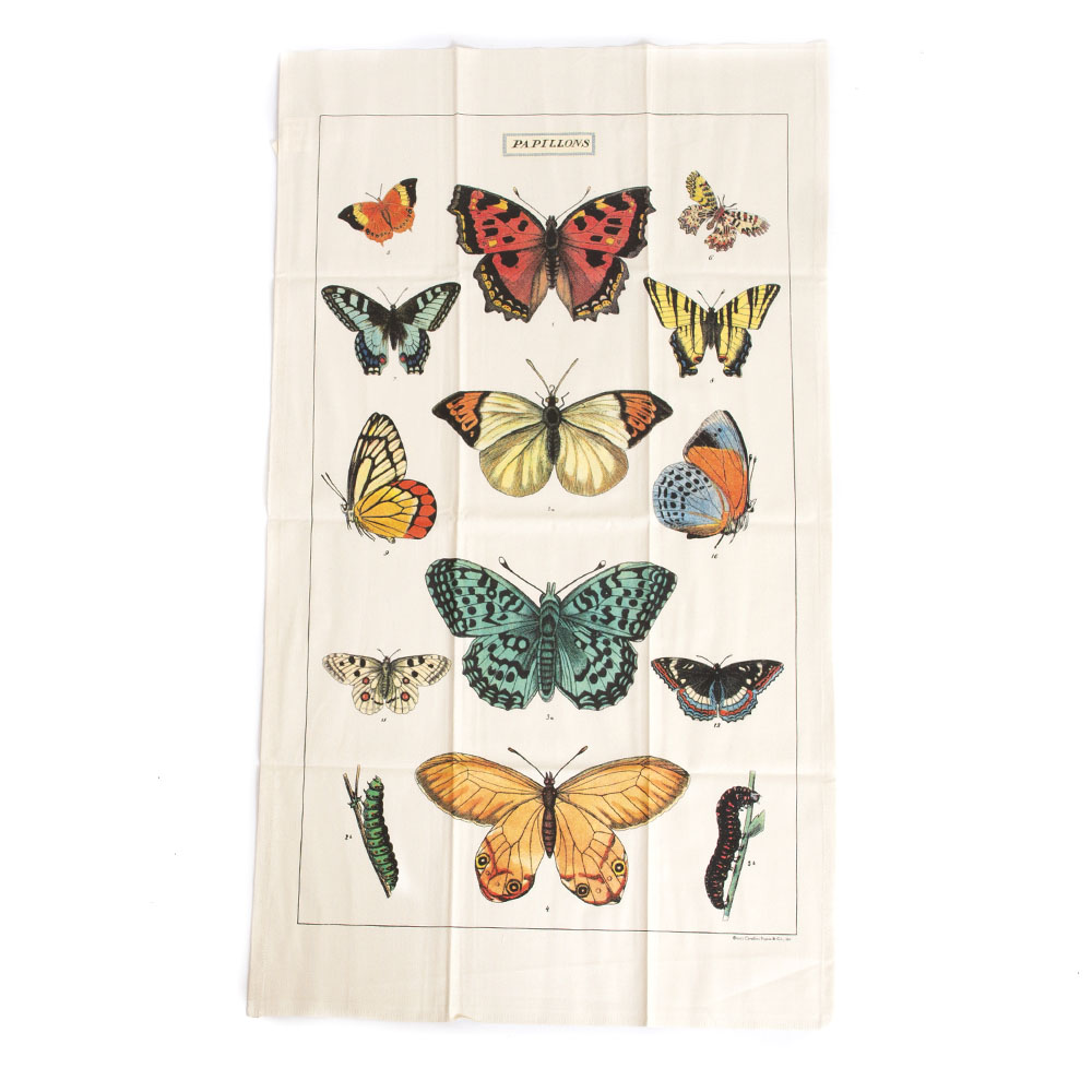 Cavallini, Cotton, Tea Towel, Butterflies