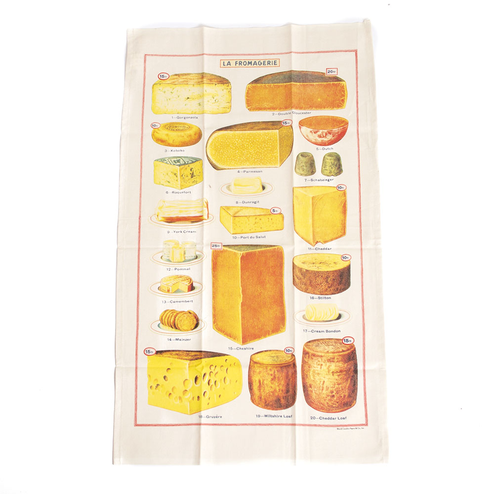 Cavallini, Cotton, Tea Towel, Cheese