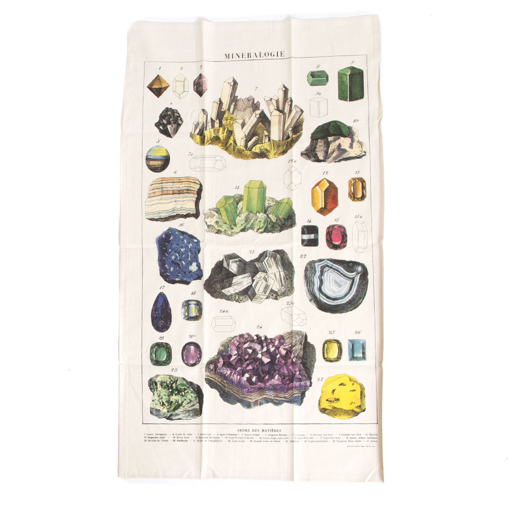 Cavallini, Cotton, Tea Towel, Mineralogie