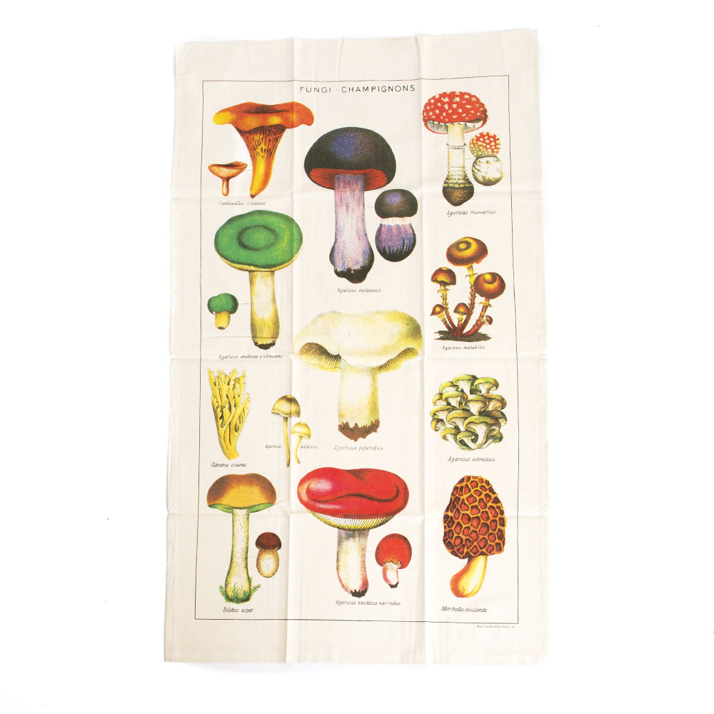 Cavallini, Cotton, Tea Towel, Mushrooms