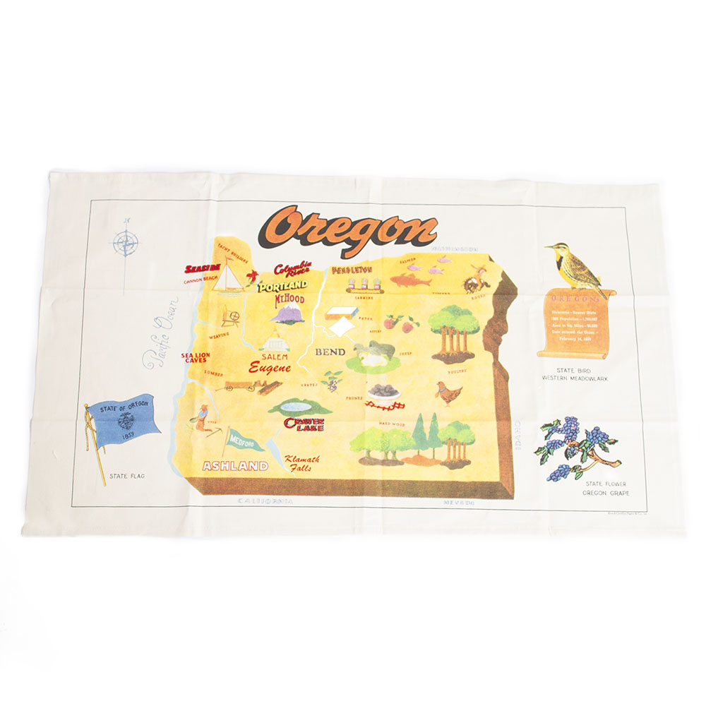 Cavallini, Cotton, Tea Towel, Oregon